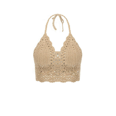 Brassière all'uncinetto beige gypsy