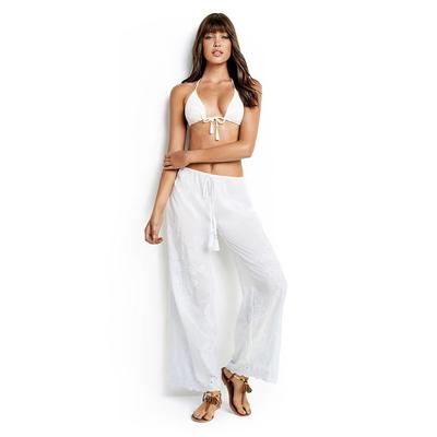 Pantalone bianco ricamato Casablanca