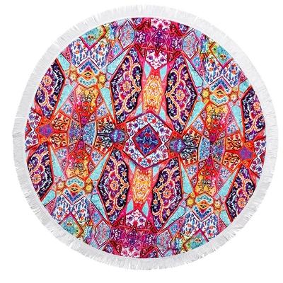 Telo mare rotondo multicolore Istanbul Fringe Benefits