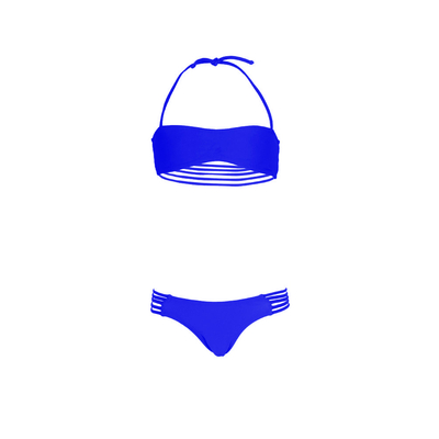 Bikini blu reale per bambina Mon Mini Teenie Bikini