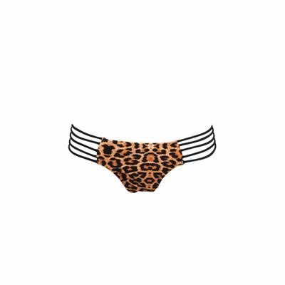 Slip di costume da bagno leopardato e nero Ma culotte Isty Bikini (Pezzo sotto)