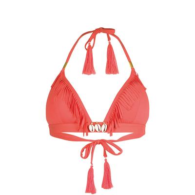 Costume triangolo rosso corallo Coryswim (Pezzo sopra)