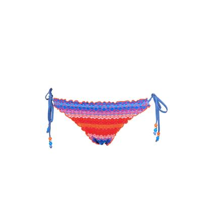 Slip di costume da bagno multicolore Havana Stripe (Pezzo sotto)
