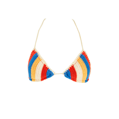 Costume a triangolo multicolore Caribbean (Pezzo sopra)