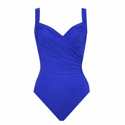 Costume intero blu taglie forti Sanibel