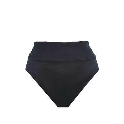 Costume nero con risvolto Fold Over Brief (Pezzo sotto)