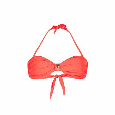 Costume a fascia arancione corallo Uniswim (Pezzo sopra)