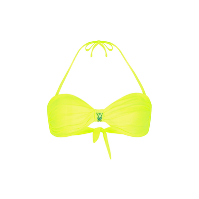 Costume a fascia giallo fluo Uniswim (Pezzo sopra)