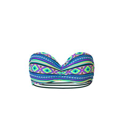 Mon Teenie Bikini Ethnique - Costume a fascia multicolore con stringhe (pezzo di sopra)