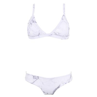 Costume 2 pezzi tanga bianco Marbre Edizione Limitata