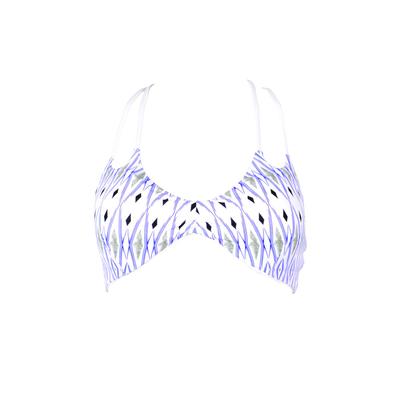 Costume brassière bianco reversibile a fantasia Cortez (Pezzo sopra)
