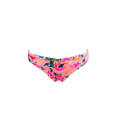 Slip mare rosa pesca a fiori neoprene Néoprène Bikini (Pezzo sotto)