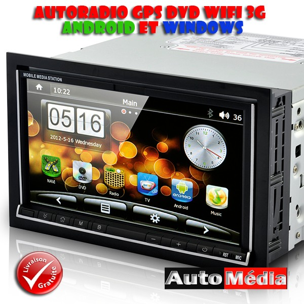 autoradio double din windows 6 0 2 din gps dvd mirrorlink wifi. Black Bedroom Furniture Sets. Home Design Ideas