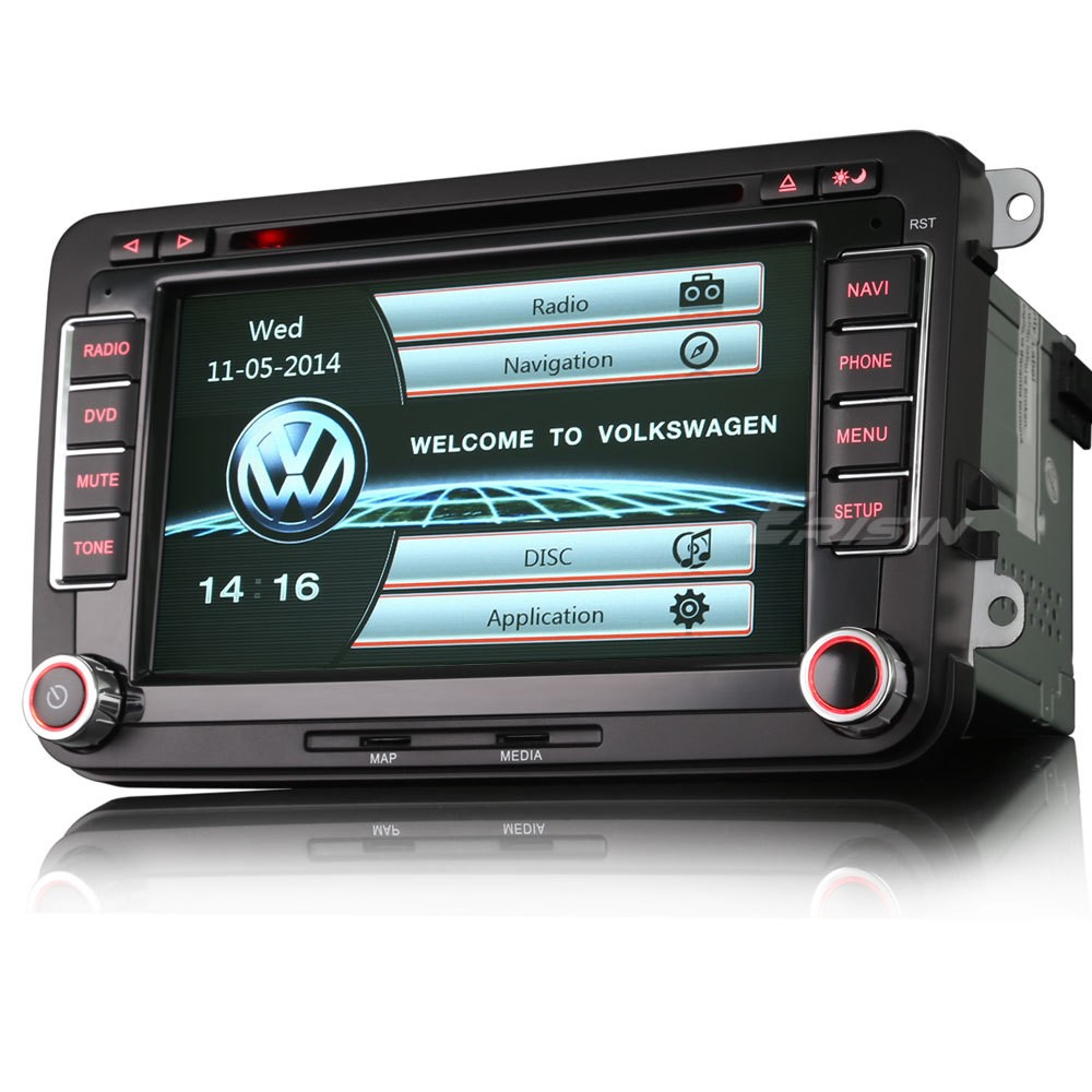 autoradio gps pour volkswagen golf tiguan touran wifi auto m dia. Black Bedroom Furniture Sets. Home Design Ideas