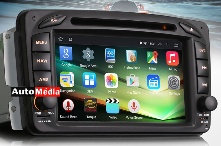 autoradio android mercedes benz gps compatible google play store auto. Black Bedroom Furniture Sets. Home Design Ideas
