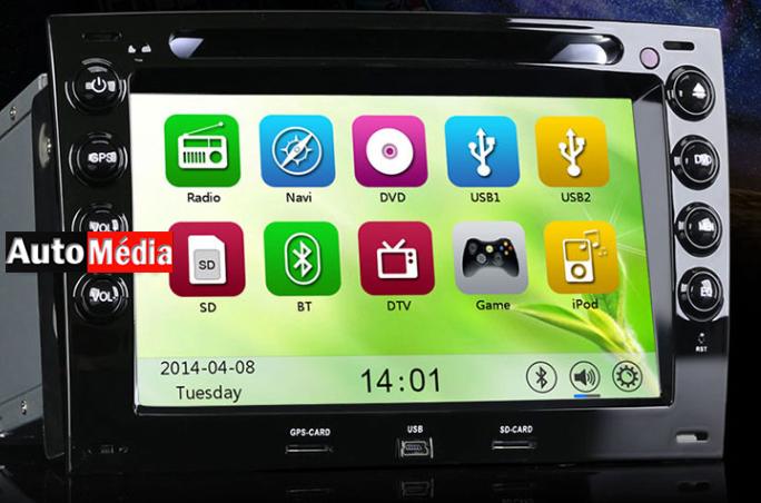 autoradio gps usb bluetooth tactile renault megane 2 auto media. Black Bedroom Furniture Sets. Home Design Ideas
