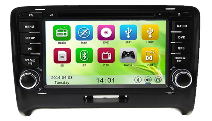 autoradio gps dvd bluetooth wifi pour audi tt mk2 auto m dia. Black Bedroom Furniture Sets. Home Design Ideas