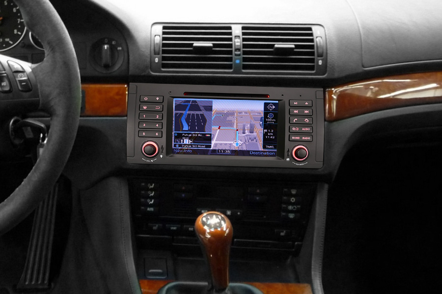 autoradio bmw s rie 5 e39 et x5 e53 pas cher gps wifi. Black Bedroom Furniture Sets. Home Design Ideas