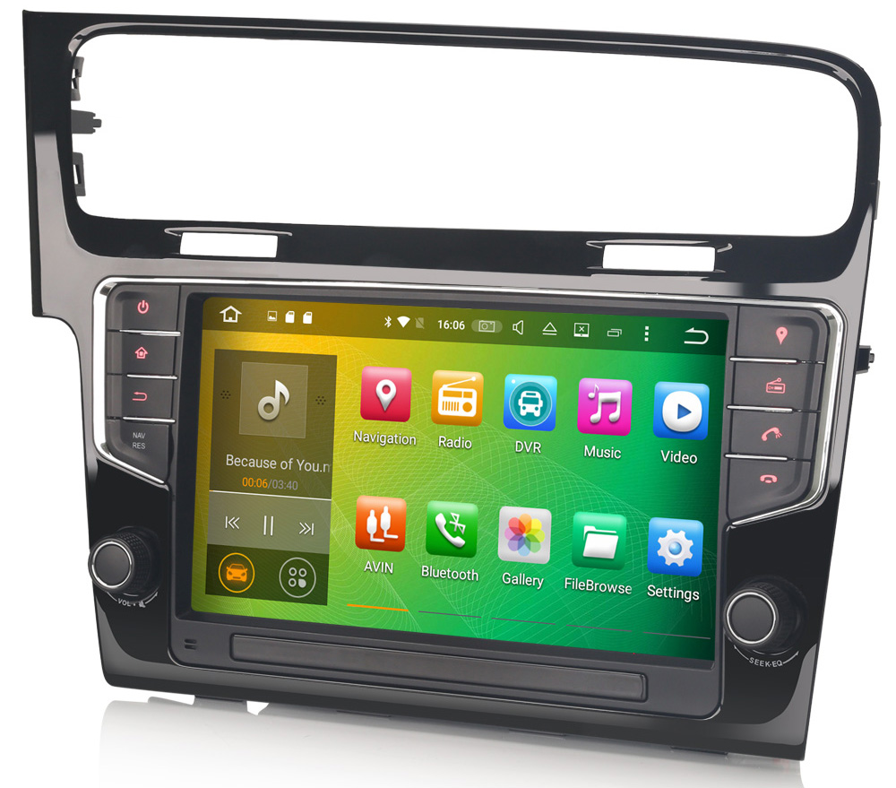 autoradio volkswagen golf 7 avec wifi android 6 0 gps dvd usb bluetooth. Black Bedroom Furniture Sets. Home Design Ideas