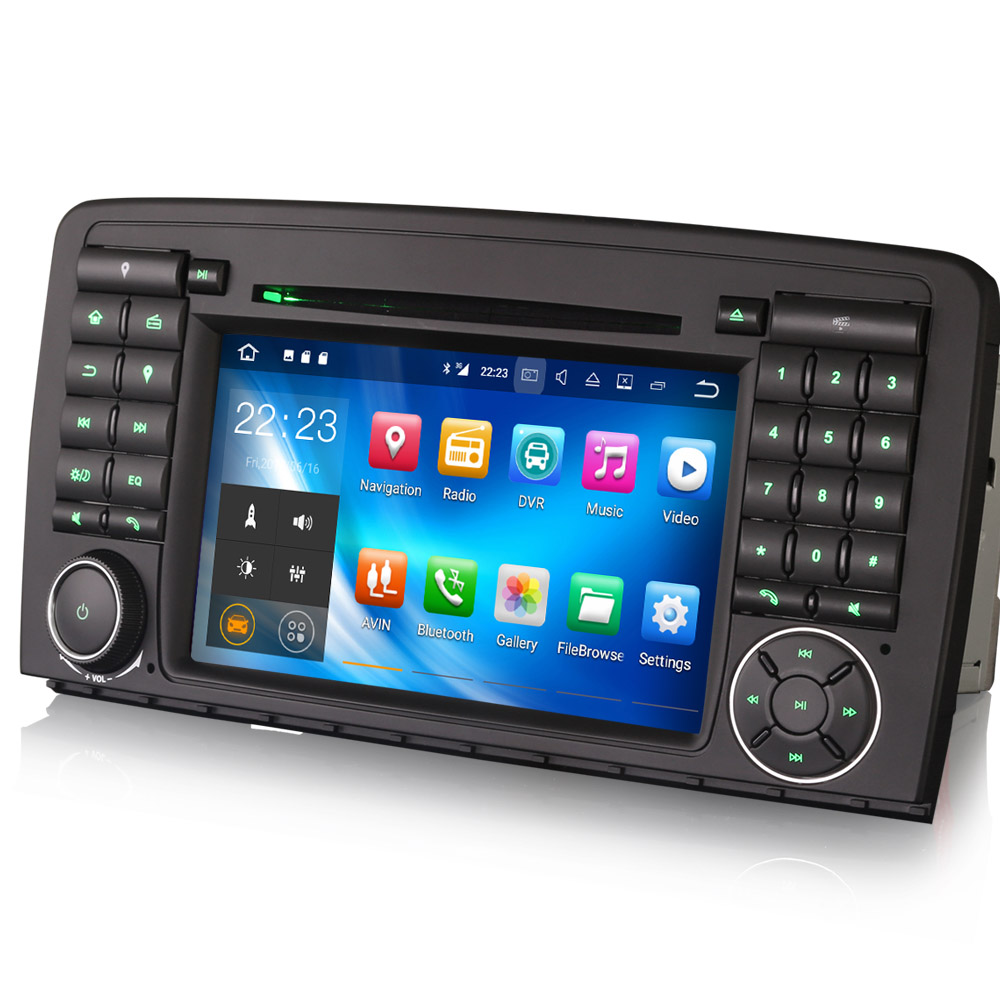 autoradio android 7 1 cran tactile gps wifi mercedes classe r auto. Black Bedroom Furniture Sets. Home Design Ideas