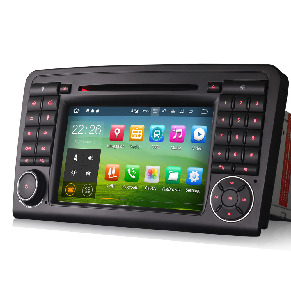 autoradio android mercedes ml gl gps bluetooth usb sd mirrorlink auto. Black Bedroom Furniture Sets. Home Design Ideas