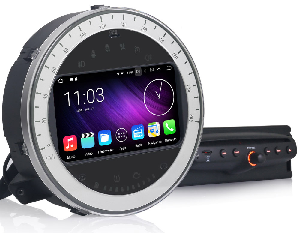 autoradio android 7 1 gps navigation bluetooth mini cooper. Black Bedroom Furniture Sets. Home Design Ideas