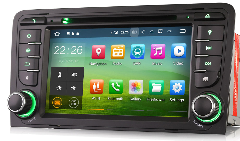 poste cran tactile 7 sous android 9 0 gps dvd bluetooth. Black Bedroom Furniture Sets. Home Design Ideas