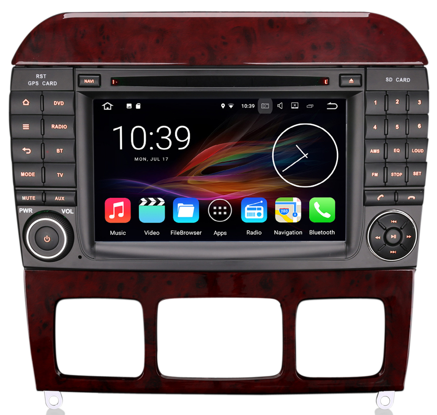 autoradio android 7 1 gps wifi dvd usb mercedes classe s auto. Black Bedroom Furniture Sets. Home Design Ideas