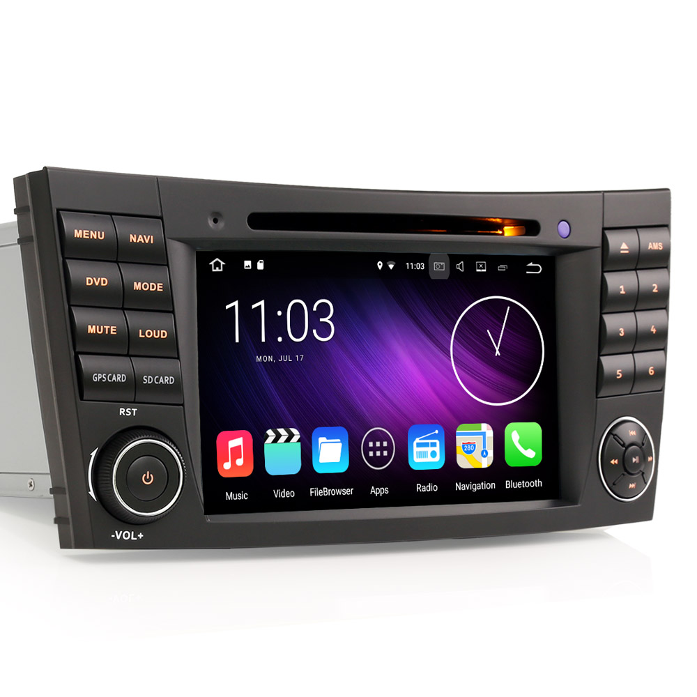 autoradio android 4 4 4 gps mercedes wifi gps dvd google play store auto. Black Bedroom Furniture Sets. Home Design Ideas