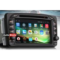 "Autoradio Android 4.4.4 Mercedes Benz Classe A W168, Classe C W203, Classe E W210, ML W163, CLK, SLK W170, Classe G, Viano & Vito - WIFI GPS DVD USB Bluetooth écran tactile 7"""