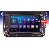 Autoradio Android Volkswagen Eos, Golf 5 & 6, Caddy, Scirocco, Polo, Tiguan, Touran, Passat CC, Amarok, Coccinelle, Seat Leon, Alhambra et Skoda Fabia, Octavia, Superb, Yeti, Roomster & Rapid - Android 5.1 GPS DVD USB Bluetooth écran tactile 7""