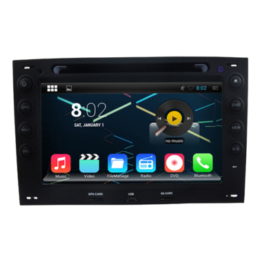 autoradio android 4 4 4 gps renault megane compatible google play store auto. Black Bedroom Furniture Sets. Home Design Ideas
