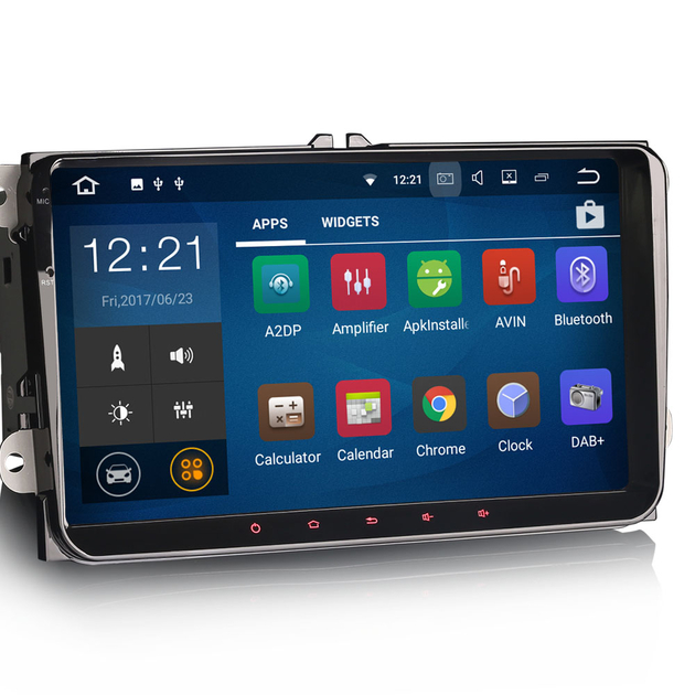 autoradio tactile android 7 1 volkswagen bluetooth mirrorlink auto. Black Bedroom Furniture Sets. Home Design Ideas