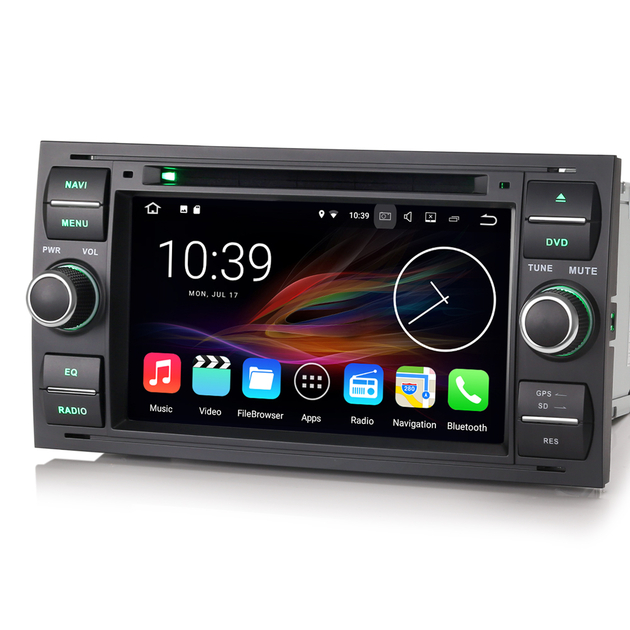autoradio android 7 1 gps wifi bluetooth ford kuga transit auto. Black Bedroom Furniture Sets. Home Design Ideas