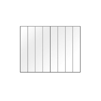 Vitre FRANCO BELGE Beffroi 8 lamelles 376 x 285 - 188807