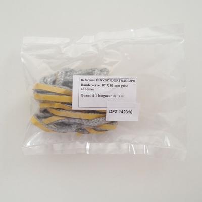 Joint 142316 en fibre de verre 7 x 3 mm adhésif 142316- Long. 3 m - Sous pochette