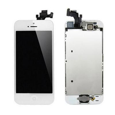 Ecran vitre tactile complet pour iPhone 5S Blanc - Classe AAA