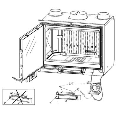 Kit interrupteur 2 vitesses de ventilation pour insert UBINAS