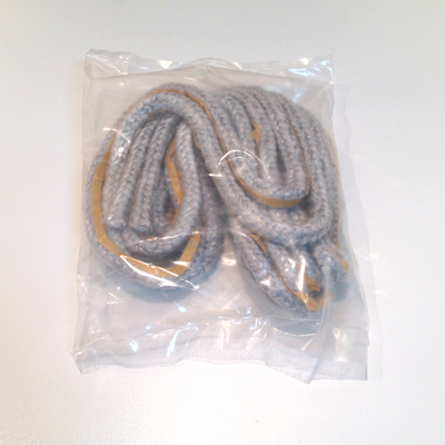 Joint tresse 181607 en fibre de verre diam. 9,5 mm avec adhésif - Long. 2,5 m - Sous pochette
