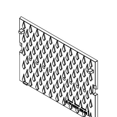 Plaque foyère à motifs  FRANCO BELGE  330027