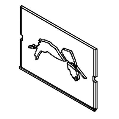 Plaque foyère à motifs  FRANCO BELGE  Gascon 330012