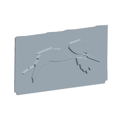 Plaque foyère à motifs  FRANCO BELGE  330022 Gascon