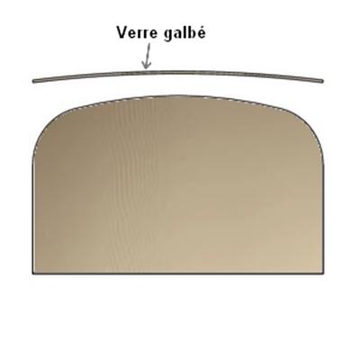 Vitre bombée FRANCO BELGE Gascon 535 x 316 - 188850