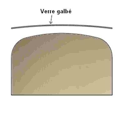 Vitre bombée FRANCO BELGE Gascon 475 x 275 - 188843