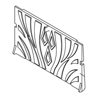 Plaque foyère à motifs FRANCO BELGE 330014