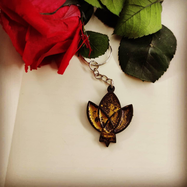 Porte-clé : Rose de Kirjava