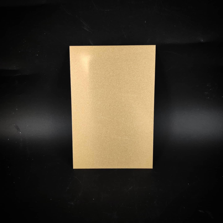 Plaque en métal sur mesure (petit doré)