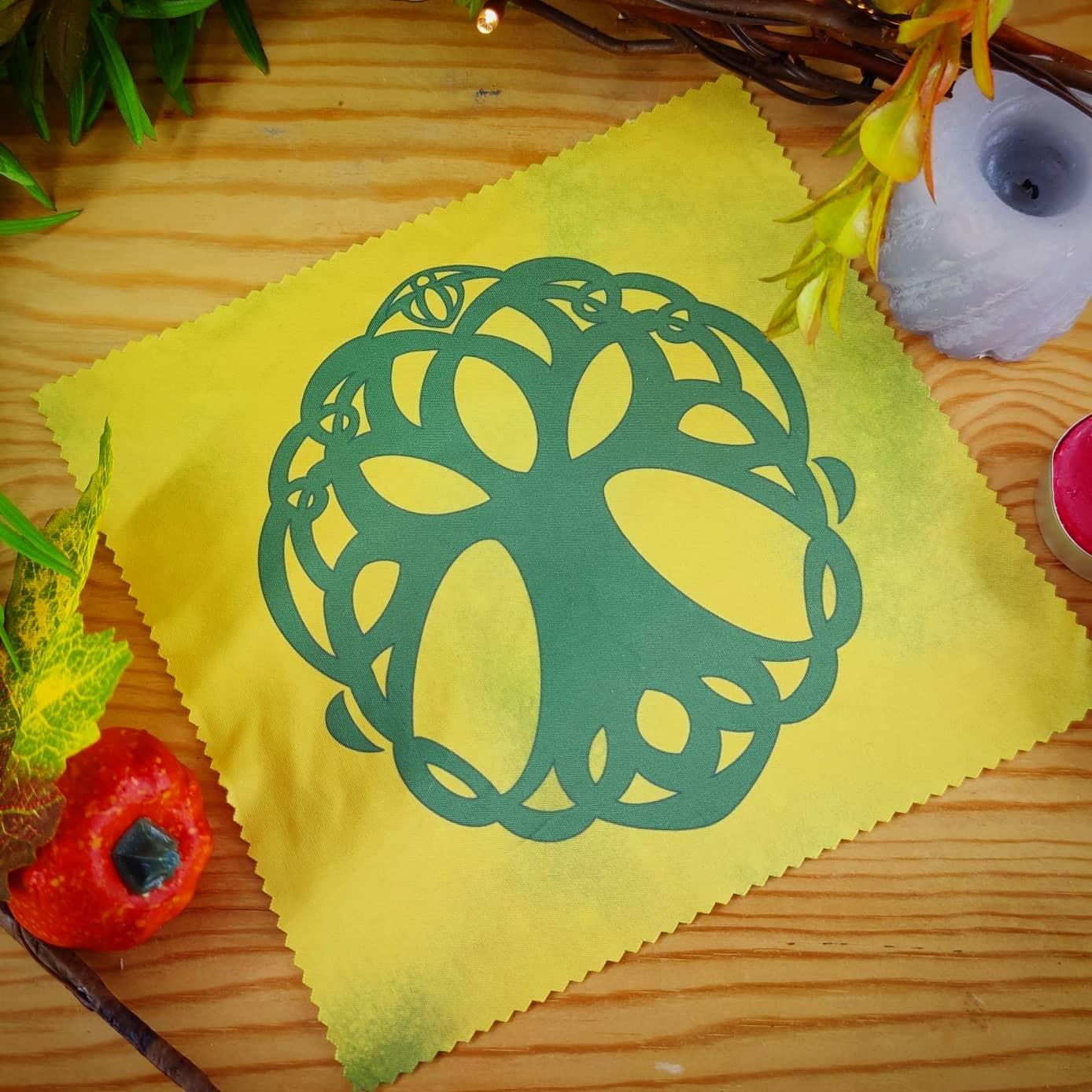 Lingette microfibre : arbre celtique