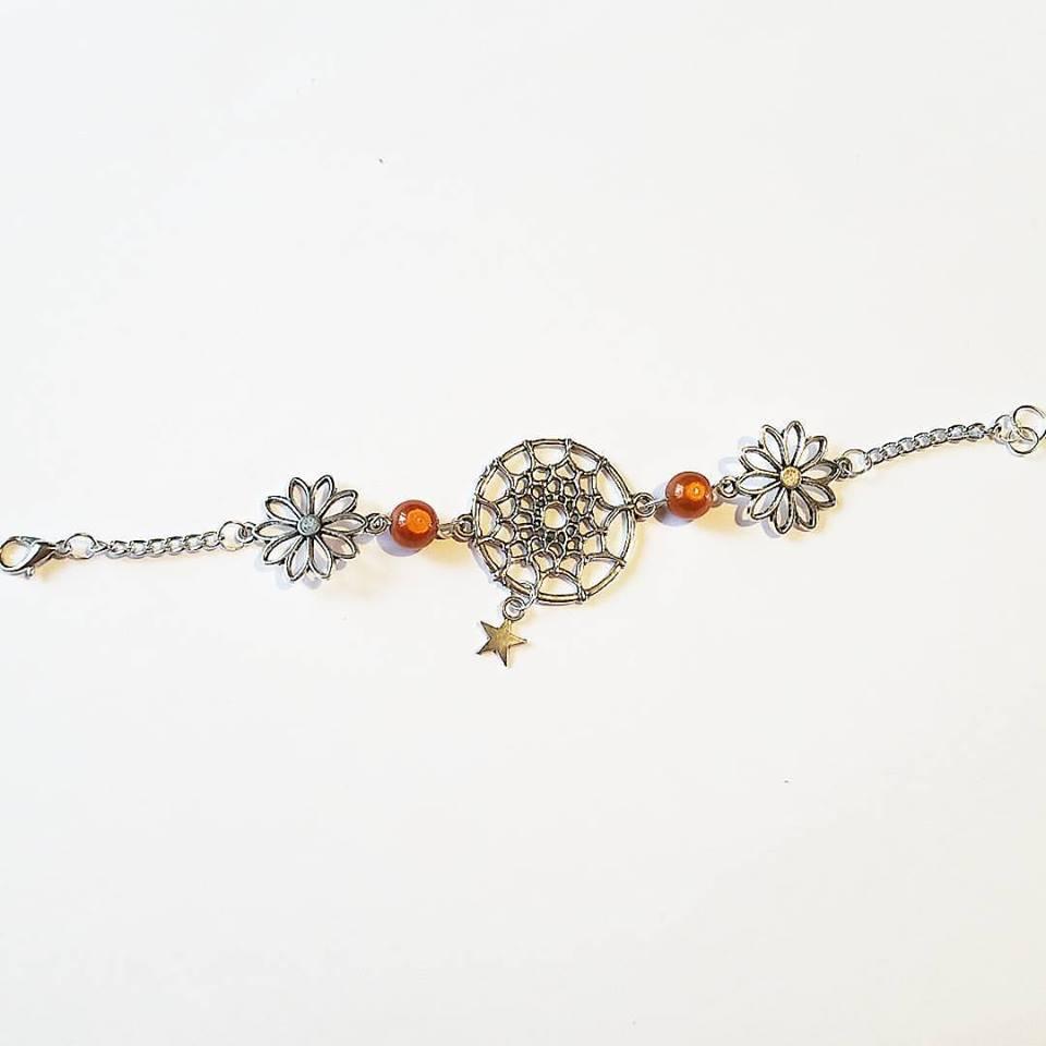 Bracelet : DreamCatcher ou Attrape rêve Fleur