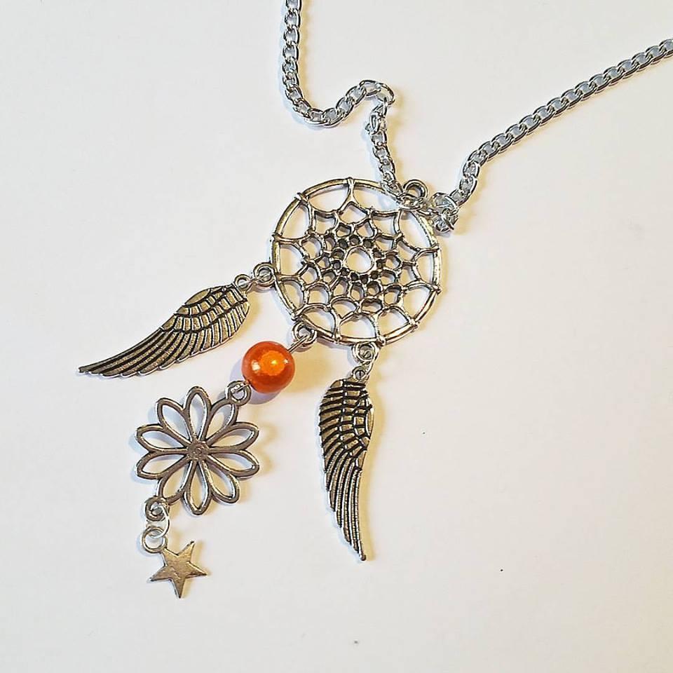 Collier : DreamCatcher ou Attrape rêve Fleur